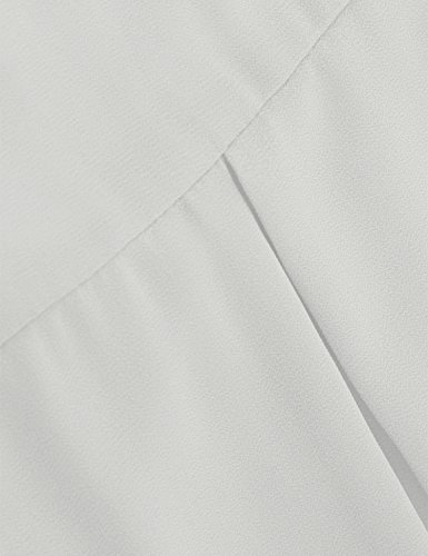 Timeson Womens Tunic Tops White, Women's White Loose Shirts Sleevelss Casual A Line Tunics Tops Chiffon Tank Tops Elegant Blouses for Business Work for Junior White Small by Timeson (Image #3)