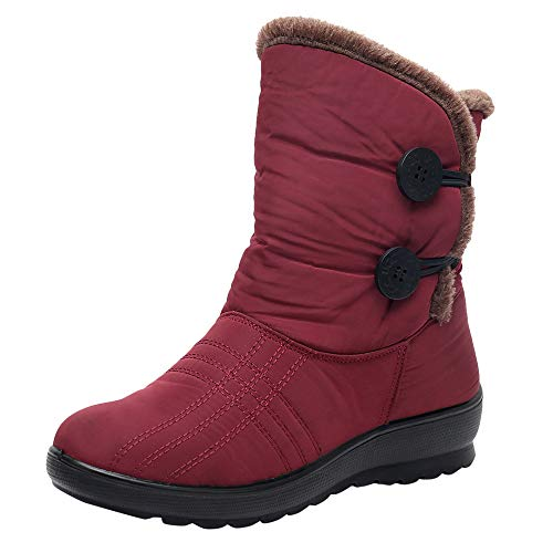 Patent Cream Footwear - COPPEN Women Snow Boots Winter Waterproof Short Footwear Warm Shoes