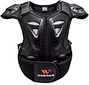 Kids Motorcycle Protective Armor, Chest Back Spine Protector Vest for Dirt Bike, Motocross, Off-Road Racing