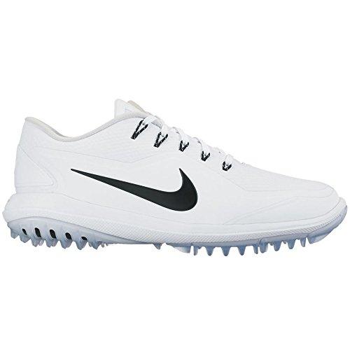 Nike Men's Lunar Control Vapor 2 Golf Shoes, White/Black-Pure/Platinum-Volt, 8.5 M US ()