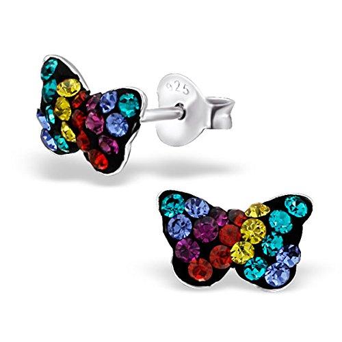 So Chic Bijoux © Enfant Boucles d'oreilles Papillon Argent 925