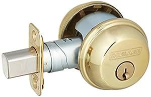 Schlage Lock B62n605 Double Cylinder Deadbolt Brass