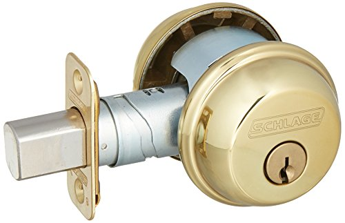 - SCHLAGE Lock B62N605 Double Cylinder Deadbolt, Brass