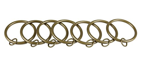 Urbanest Set of 16 Metal Curtain Eyelet Rings 2-1/2 Inch Inner Diameter (Antique Gold) by Urbanest