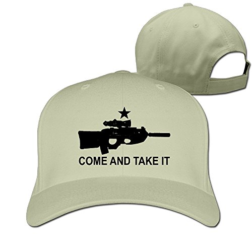 Replica FN F2000 Come And Take It Unisex Solid Adjustable Baseball Cap Natural