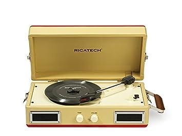 Ricatech - Tocadiscos portátil: Amazon.es: Electrónica