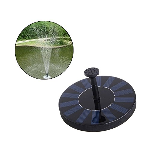 Techinal 1.4W Solar Powered Water Pump, Bird Bath Fountain Pump with Power Panel Kit , Garden Outdoor Watering Submersible Pump