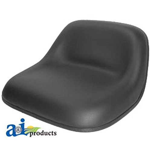 A & I Lowback Universal Lawn Mower Seat - Black, Model Number LMS2002