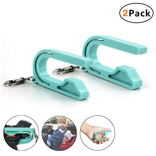 2 Pack The Car Seat Key – Easy Car Seat Unbuckle – Helps Kids and Adults to Unbuckle, 2019 New Easy Buckle Tool (Teal)