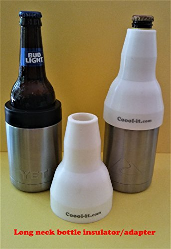 Coool-it,silicone adaptor for long neck bottles.Convert your stainless can cooler to best long neck bottle insulator! Fits Yeti/RTIC/Ozark Trail can coolers.Adapter only