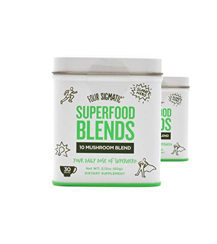 Four Sigmatic Superfood Blends 10 Mushroom Blend, 30 Servings. Vegan, Paleo and Gluten-Free Drink Mix, 60 grams 2