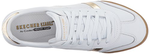 Skechers Gold Donna Sneaker Flicker Bianco Zinger White Z4cYxr1qZw