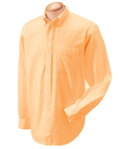 Chestnut Hill Mens 32 Singles Twill Oxford Shirt Ch500 (2X-Large / Maize)