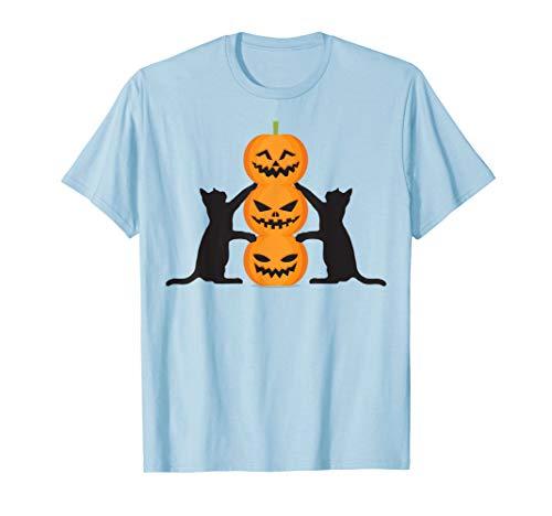 Black Cat Pumpkin Happy Halloween Tshirt - Halloween Gifts -