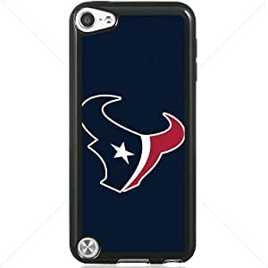 NFL American football Houston Texans Fans Apple iPod Touch iTouch 5th Generation Hard Plastic Black or White cases (Black)