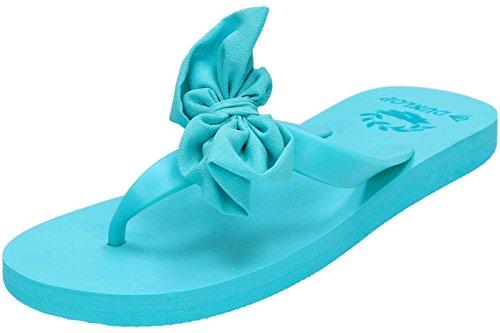 Dunlop - Sandalias para mujer Blu (Aqua)