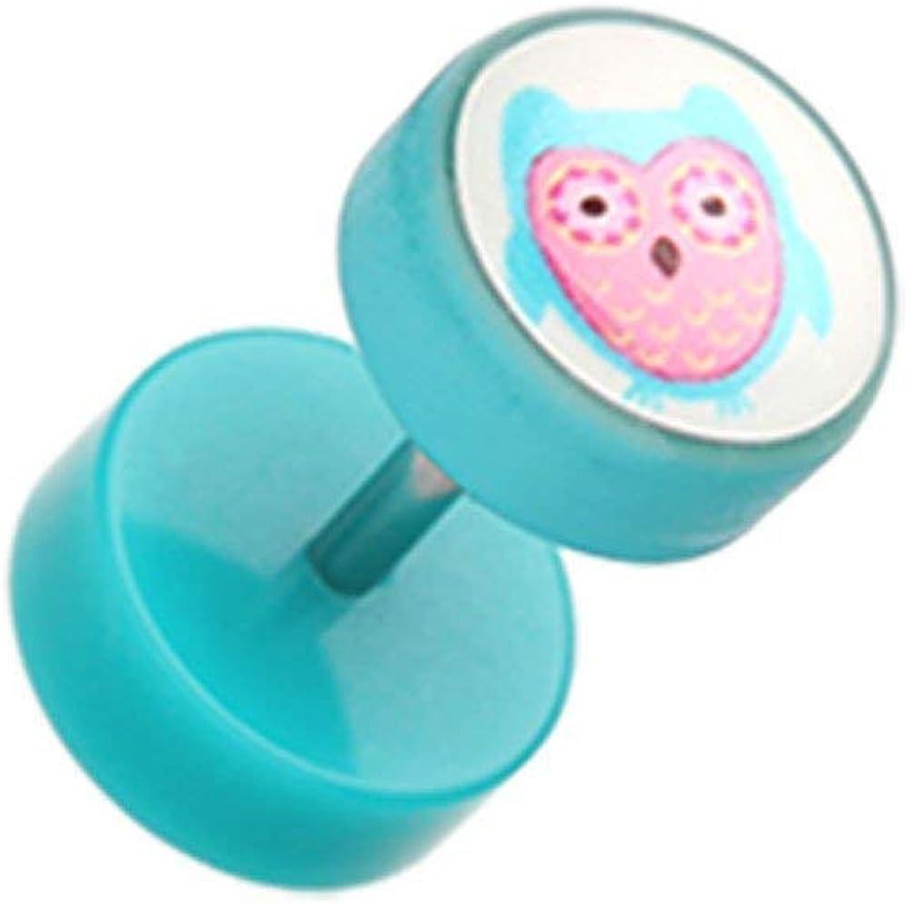 Covet Jewelry Baby Owl Acrylic Fake Plug