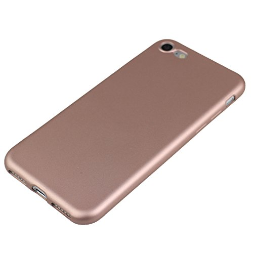 iPhone 6 Plus Funda, iPhone 6S Plus Carcasa, HuaForCity Suave TPU Trasera Cáscara Back Case Cover Color Sólido Protectora Shell Ultra Delgado Anti Scratch Bumper Piel para iPhone 6 Plus/6S Plus-Oro Oro Rosa