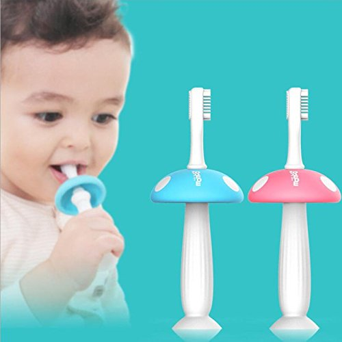 1 pc Silicone Mushroom Toothbrush Baby Teether Training Kids Soft Toothbrushes Teeth Massage Oral Care by PerfectPrice