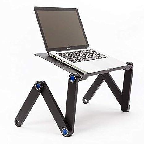 TECHNOSMART® Mesa Portatil Ordenador | Escritorio Ajustable con Sistema de Ventilación | Para cama, Sofa | 42 x 26 x 48 cm: Amazon.es: Hogar