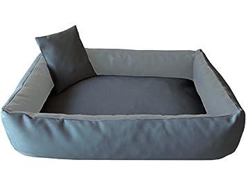 ELMO Perros sofá cama para perros Dormir Espacio Perros Cojín Cesta de piel sintética tamaño: XL - 90 x 120 cm: Amazon.es: Productos para mascotas