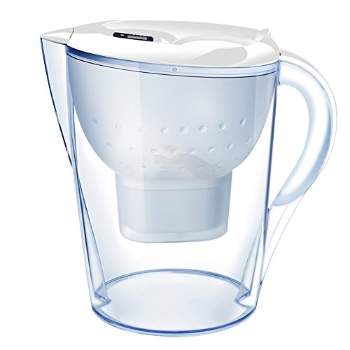 FengLi Water Filter Pitcher, Water Purifier,Water Cleaner 3.5 Liter Total & 2.0 Liter Filtered,BPA Free,with LED Indicator and 1 Filter—White