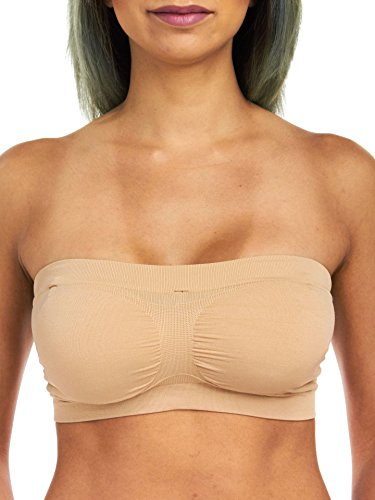 Rene Rofe Sophie B Seamless Reversible Bandeau, Nude/Black, Small
