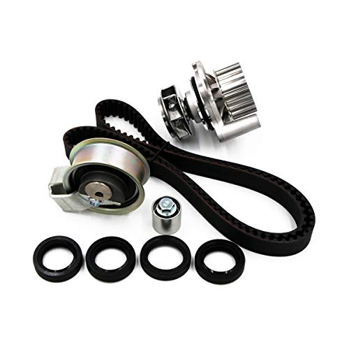 (Timing Belt Kit Water Pump, Fits 2001-2006 Audi A4 Quattro Volkswagen Passat 1.8 TURBO DOHC AWM, AMB TBK306AWPT)