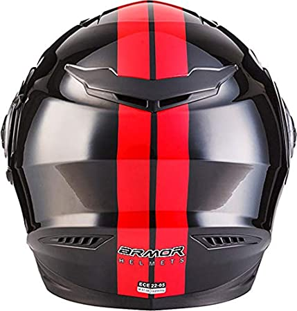 ECE Sonnenvisier Schnellverschluss Tasche S Racing Blare ARMOR Helmets AF-77 Integral-Helm 55-56cm