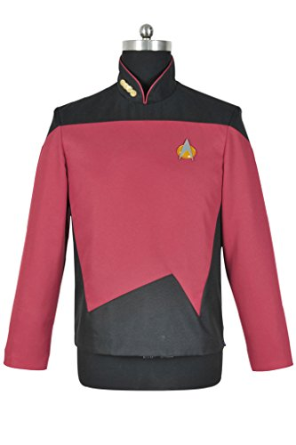 CosplayNow Star Trek TNG Sciences Uniform Cosplay Costume Red Custom (Star Trek Costumes Custom Made)