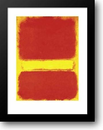 Violet Black Orange Yellow on White and Red 1949 Mark Rothko Print Poster 28x36