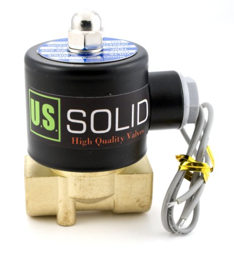 """3/8"""" Electric Solenoid Valve 12-VDC Air, Gas, Fuel Normally Closed"""