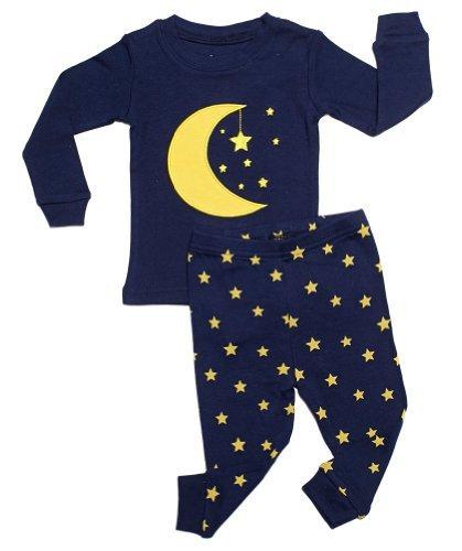 leveret-moon-stars-2-piece-pajama-100-cotton-2-years