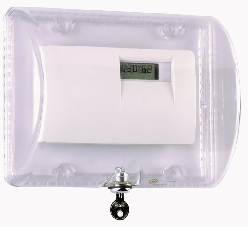 Safety Technology International, Inc. STI-9110 Thermostat Protector with Key Lock - Clear Polycarbonate -