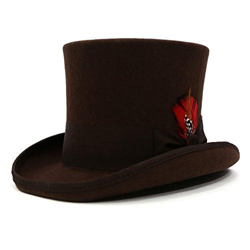 Ferrecci Men's Luxury Wool Felt Top Hat - Many ()
