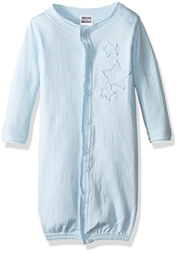 Kushies Baby Boys' Gown Convertible, Light Blue, 1-3M