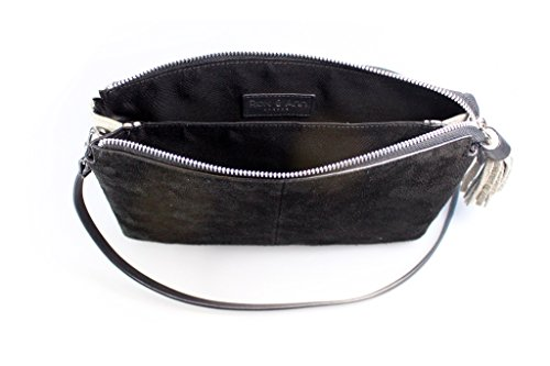 Rox And Ann, Borsa a tracolla donna Dove Grey / Black