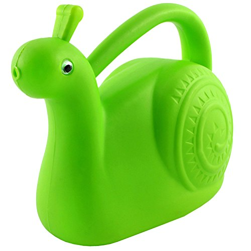 Cornucopia Brands Green Snail Plastic Watering Can-Garden-Friendly Fully-Functional Novelty Watering Can w/Googly Eyes Blends Right in with the ()