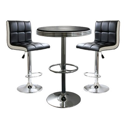 Style Weight Bar Round - AmeriHome 3 Piece Bar Table Set