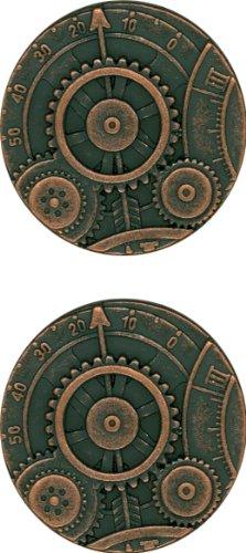 JHB Original Series Steampunk Buttons Mechanism, Copper Finish