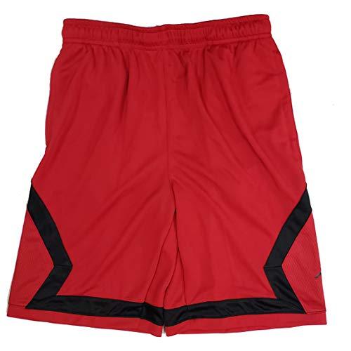 Nike Boys Air Jordan Flight Diamond Basketball Shorts Red Black Black White 953296 (Red, m)