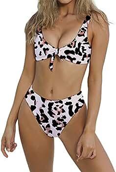 aa54ae8a1c6 Amazon.com: WANQUIY Women Print Bikini Swimsuit Two Piece Beachwear ...