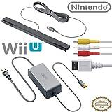 Nintendo Wii U Accessory Kit - AC Adapter WUP-002, Composite AV Cable RVL-009, and Sensor Bar RVL-014 - OEM Original Nintendo Wii U Accessories (Certified Refurbished)