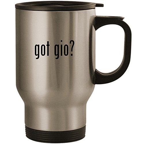 (got gio? - Stainless Steel 14oz Road Ready Travel Mug, Silver)