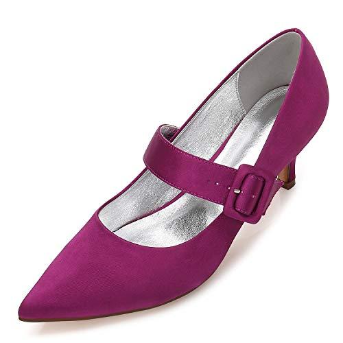 Purple Purple Purple Chiuso Tacco Punta Tacco Tacco Tacco Donne con a Nuovo Elobaby Tacco Raso Cm Punta Spillo di Formale a da Sposa Scarpe a 6 1nZvOn