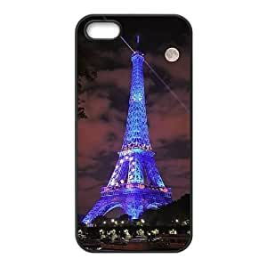 Eiffel Tower in Paris,France Custom Cover Case with Hard Shell Protection for Iphone 5,5S Case lxa835050