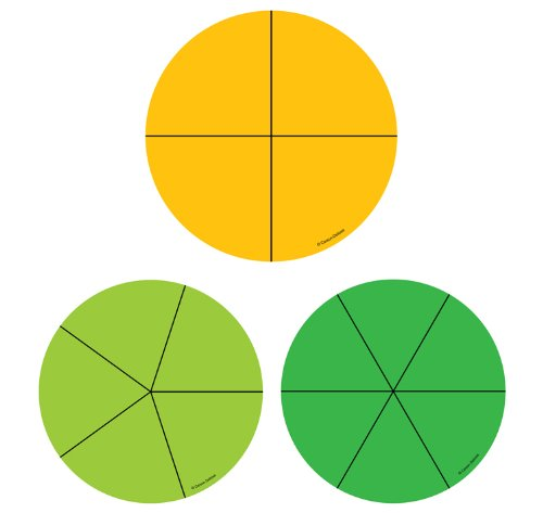 Fraction Circles Curriculum Cut-Outs (Out Circle)