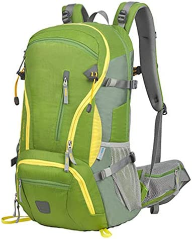 40Lアウトドアスポーツハイキングバックパック、 ナイロン布、 ロッククライミング/観光、 男性と女性,Green