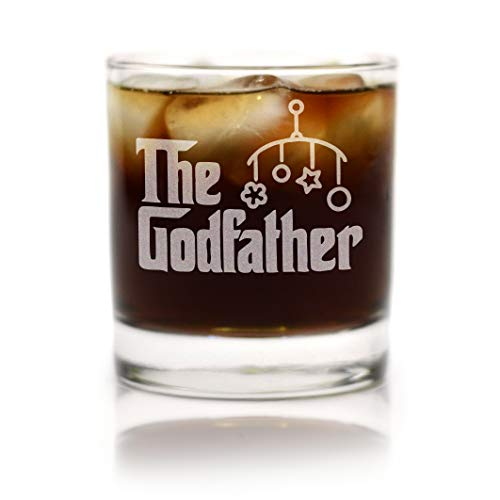 Movies On Glass – Premium Etched The Godfather Baby Gift Godparents Announcement 11 oz. Rocks Glass Cool Present Idea for Godfather and Couples Baptism or Christening matches Godmother Glass Set Review