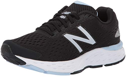 New Balance Women's 680v6 Cushioning Running Shoe, Black/air, 9.5 D US